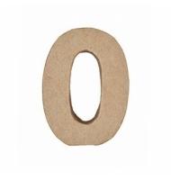 Numero 0 da 7 x 5,5 cm in carta pesta