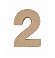 Numero 1 da 17,5 x 8 cm in carta pesta