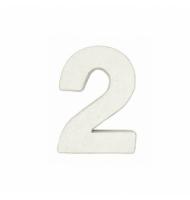 Numero 1 da 7 x 5,5 cm in carta pesta