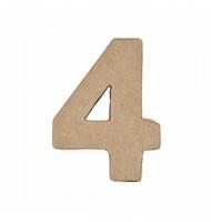 Numero 2 da 17,5 x 11 cm in carta pesta