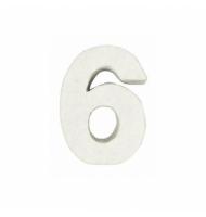 Numero 2 da 7 x 5 cm in carta pesta