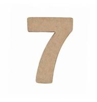 Numero 6 da 17,5 x 11,5 cm in carta pesta