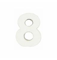 Numero 6 da 7 x 5 cm in carta pesta
