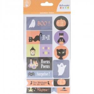 Stickers halloween 2 x 3 fogli