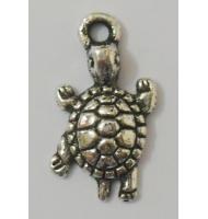 Ciondolo tartaruga argento antico