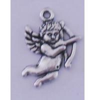 Ciondolo girasole argento antico
