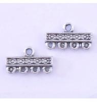 Coppia intercalari giglio argento antico