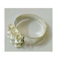 base anello dorata con 9 anellini