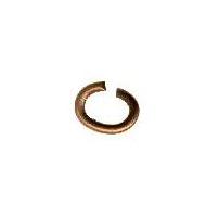 Anellini aperti metallo dorato mm 4 x 0,6