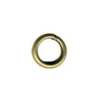 Anellini aperti metallo dorato mm 5 x 1