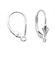 coppia di ganci per orecchini chiusi con goccia argento 925