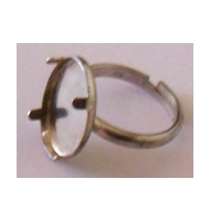base anello argento 925 base piatta da 20 mm
