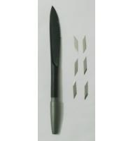 Brunitore con punta in agata stretta per Art clay silver