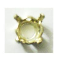 Castone color argento per cabochon 1028 da 6 mm
