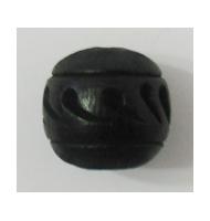 Perla in ceramica bianca e nera 15 mm