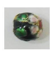 Perla cloisonné rossa 6 mm