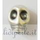 perla teschio argento antico 12 mm