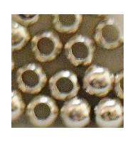 50 perline schiaccini argento 925 3 mm