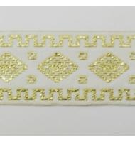 nastro operato giallo con fiori 28 mm x 1 metro