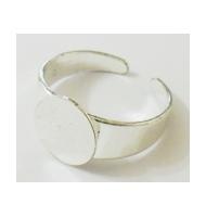 base anello color argento con retina da 17 mm