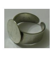 base anello da incollare argento 925 14 mm