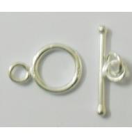 chiusura t-barra da 20 mm argento