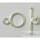 chiusura t-barra da 10 mm argento 925