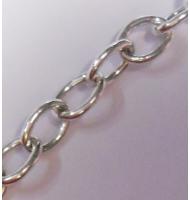 catena maglia ovale argento 925 8,2 x 7 mm x 50 cm
