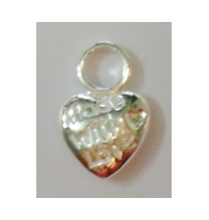 "Ciondolo cuore ""made with love"" argento 925"