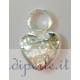 """Ciondolo cuore """"made with love"""" argento 925"""