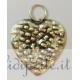 Ciondolo cuore martellato argento 925