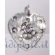 Ciondolo cuore bucato argento 925