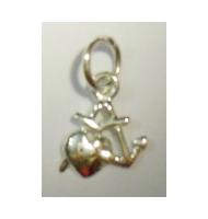 Ciondolo delfini argento 925