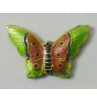 cloisonné farfalla rosa 27 x 18 mm