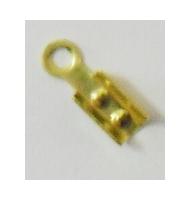 Terminale chiudi cordoncino color argento 2 mm