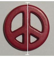 simbolo della pace giallo 20 mm