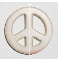 simbolo della pace rosso 20 mm