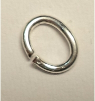 Anellini ovali argento 925% mm 6 x 4 x 0,8