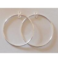 coppia di cerchi 40 mm con anellino argento 925