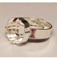 base anello argento 925 castone swarovski 1122 da 12 mm