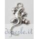 Ciondolo geco argento antico