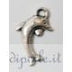 Ciondolo delfino argento antico