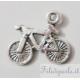 Ciondolo bicicletta argento antico