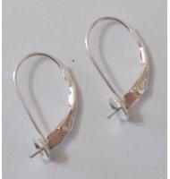 coppia di ganci per orecchini a filo argento 925 16 mm