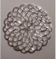 fiorellini stringiforo 4 mm argento antico