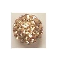 perla pavè di strass semi-forata 8 mm topaz
