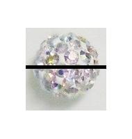 perla pavè di strass 6 mm amethyst