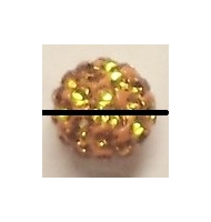 perla pavè di strass 6 mm peridot