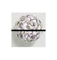 perla pavè di strass 8 mm amethyst