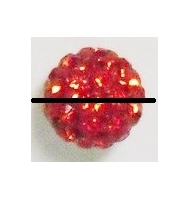 perla pavè di strass 8 mm light rose
